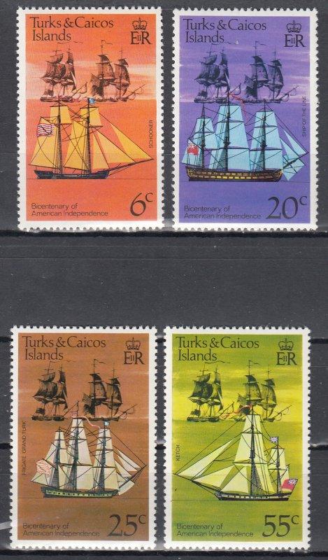 Turks & Caicos MNH 311-4 Sailing Ships
