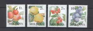 Moldova 1998 Fruits 4 MNH stamps