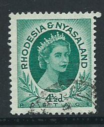 Rhodesia & Nyasaland SG 6  VFU