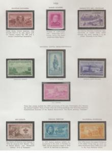 U.S. Scott #988-1009 - 1950-1951 Commemorative Stamps - Mint Set