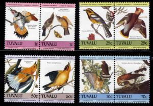 TUVALU Scott 279-282 MNH** Audubon Bird  set