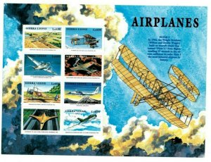 Sierra Leone MNH S/S Airplanes Large Size