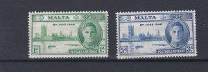 MALTA  1946  VICTORY SET  MNH