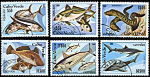 Cape Verde 410-415, CTO, Fish
