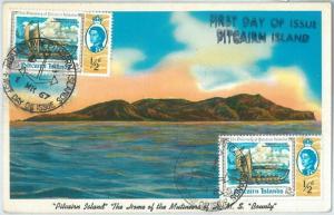 69121 - PITCAIRN ISLANDS - POSTAL HISTORY - FDC  Postcard 1967 - BOAT SHIP