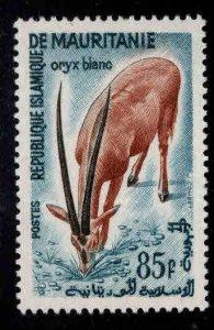 Mauritania Scott 133 MNH** 85 Franc Scimitar-horned Oryx top value of set