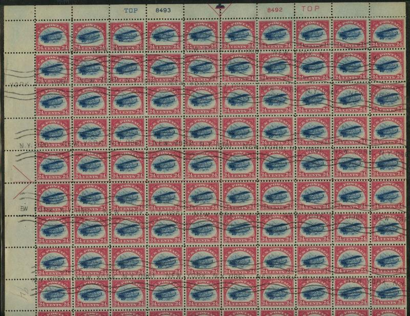 #C3 FULL SHEET USED -- VF -- EXTREMELY RARE WLM1964
