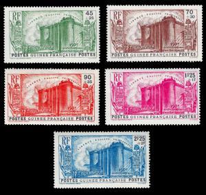 French Guinea, 1939 omnibus Fr. Revolution set YT 153-57 mvlh 50euro