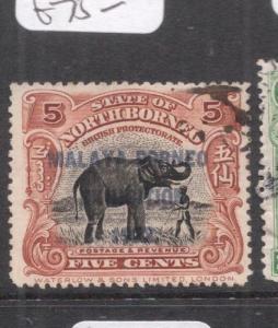 North Borneo SG 259 Elephant VFU (7deg)