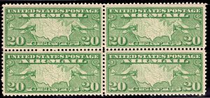 US Stamp #C9 Block of 4 MINT NH SCV $50.00 (as singles)