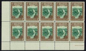 SOUTHERN RHODESIA 1940 50TH ANNIVERSARY 4D MNH ** BLOCK