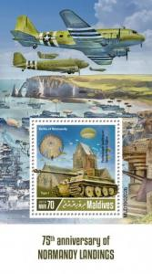 MALDIVES - 2019 - Normandy Landings - Perf Souv Sheet - MNH