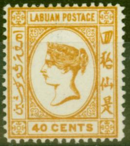 Labuan 1894 40c Orange-Buff SG57 Fine & Fresh Mtd Mint