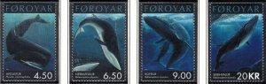 (CMA) Faroe Islands Scott #403-06 MNH Complete Set
