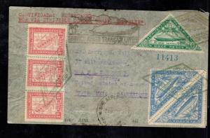 1932 Paraguay Graf Zeppelin Cover to Maplewood NJ USA LZ 127
