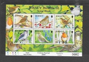 BIRDS - JERSEY #1394a  SONG BIRDS  MNH