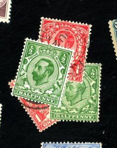 GREAT BRITAIN #157 MINT 158 158A-B USED FVF OG HR Cat $34