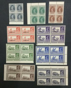 MOMEN: INDIA CHAMBA SG #82/92 1938 BLOCKS MINT OG NH LOT #198489-6041