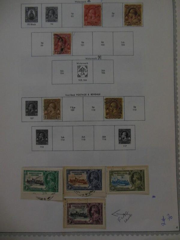TURKS & CAICOS : All Very Fine, Used, clean collection on album pages. Beautiful