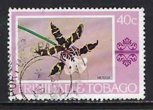 TRINIDAD & TOBAGO 286 VFU ORCHID X499-2