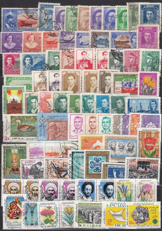 Iran - 80 stamp collection  - (1546)