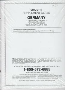 Minkus Album Supplement Germany Isuues Through Jan 2009