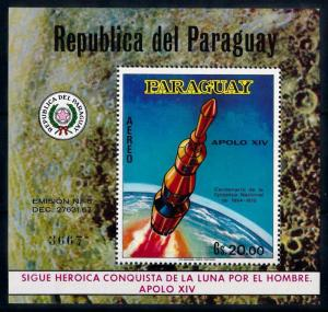 [66073] Paraguay 1970 Space Travel Weltraum Apollo 14 Souvenir Sheet MNH