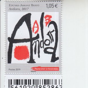 2019 Fr Andorra Arranz Bravo  (Scott NA) MNH
