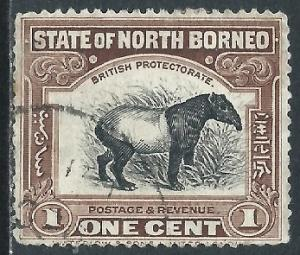 North Borneo, Sc #136, 1c Used