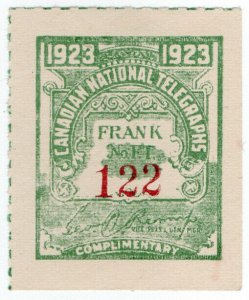 (I.B) Canada Telegraphs : Canadian National (1923)