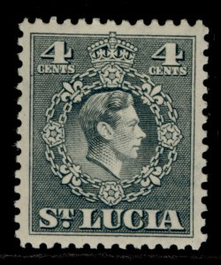 ST. LUCIA GVI SG149, 4c grey, M MINT.