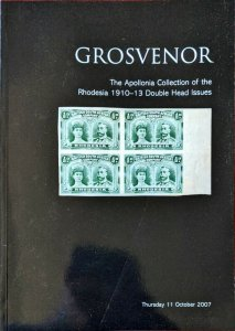 Auction Catalogue Apollonia RHODESIA 1910-13 DOUBLE HEAD ISSUES