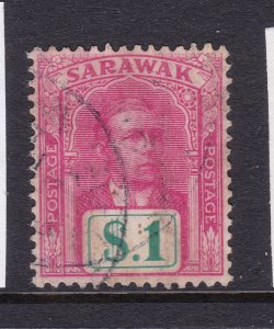 Sarawak a used $1 from the 1918 series