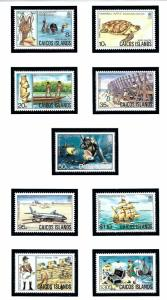 Caicos Is 13-21 MNH 1983-84 Definitive set