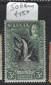 ST LUCIA (P2203B)  KGV 3D  WATERFALLS   SG 118   MOG