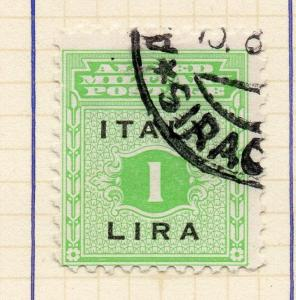 Italy 1943 Early Issue Fine Used 1L. Optd 291950