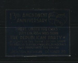 UNITED STATES - 1940 13th AMENDMENT FOIL POSTER STAMP MNH REPUBLICAN PARTY