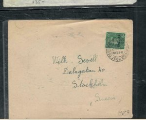 MOROCCO COVER (PP2912B) 1948 KGVI 1/2D   ON COVER TANGER TO SWEDEN