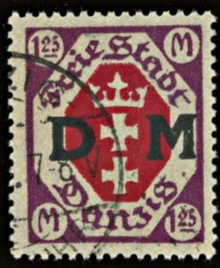 Danzig Mi #17 ~ Sc #O16 Used 1.25m Official DM Surcharge CV €100