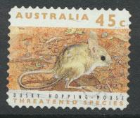 Australia SG 1329  Used perf 11½ Threatened Species - Hopping Mouse