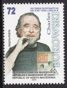 399 - NORTH MACEDONIA 2020 - Charles Bukowski - Writer - MNH Set