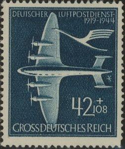 Stamp Germany Mi 868 Sc B252C 1944 WW2 3rd Reich Airmail De auer Airplane MNG