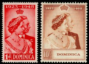 DOMINICA SG112-123, COMPLETE SET, NH MINT. Cat £25. RSW.