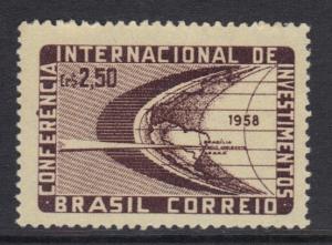 Brazil  #873  1958  MNH International investments  complete