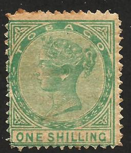 Tobago 1 Shilling 1879 Scott# 4 Mint hinged CV $425.00