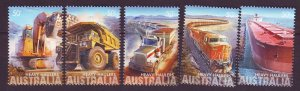 J24264 JLstamps 2008 australia set mnh #2839-43 transportation