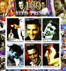 Elvis Presley & Walt Disney Sheet Imperforated Mint (NH)