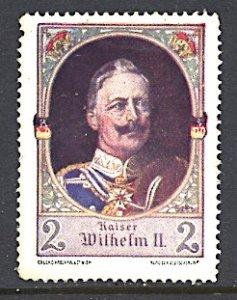 Germany Austria World War I Patriotic Cinderella Kaiser Wilhelm II