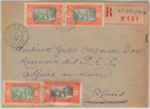SENEGAL -  POSTAL HISTORY:  REGISTERED COVER from Kébémer  1934