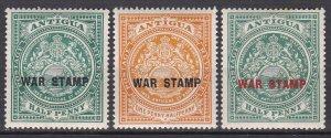 Antigua Sc #MR1-MR3 Mint